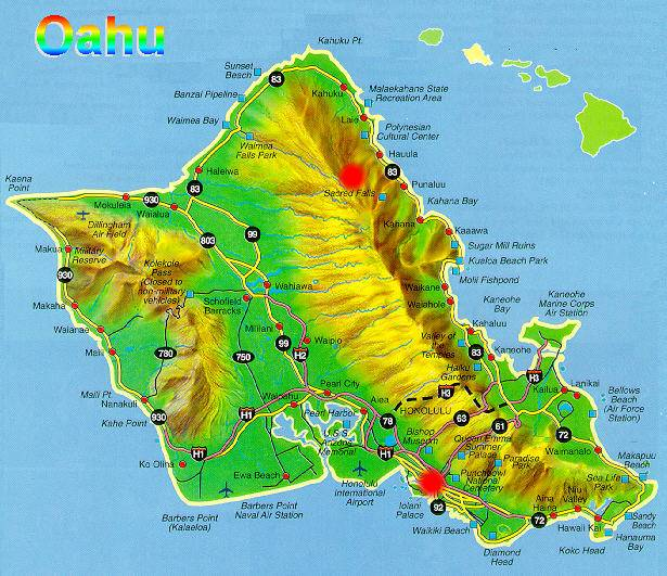 OAHU Hawaii Major Attractions and Hikes A Travel Guide – Oahu Tourist Map